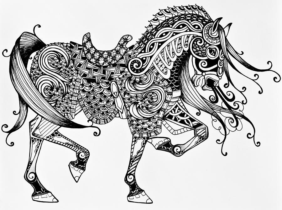 Раскраски животные с узорами